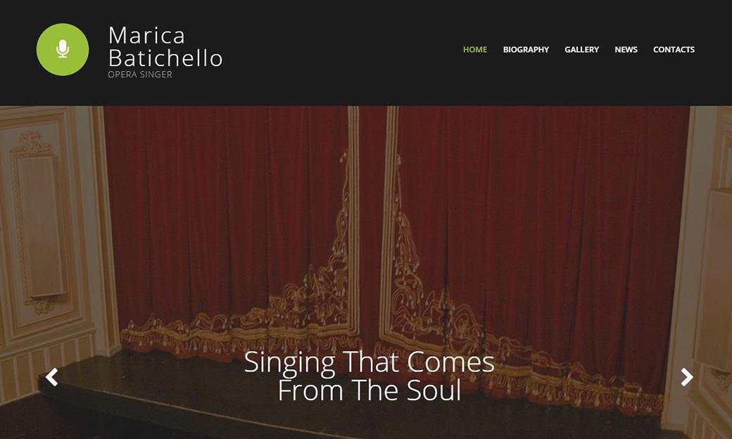 Сайт-визитка для оперного певца