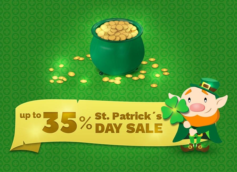 Der St. Patrick's Day wird großzügig bei MotoCMS gefeiert!