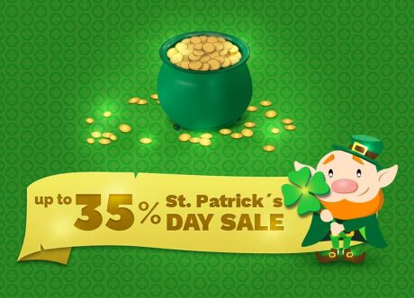 Saint Patrick's Day Sale - Any Template or Offer with 35% OFF