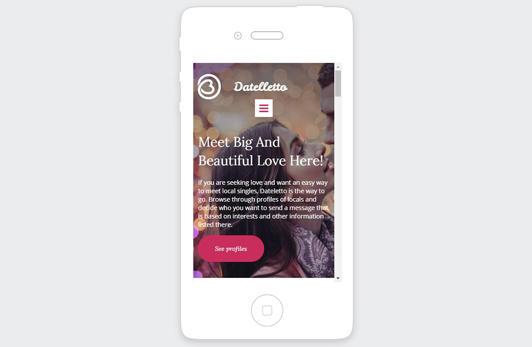 Datelletto mobile version image