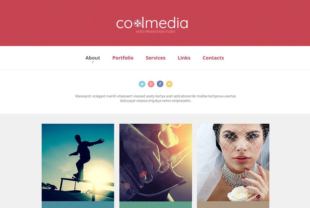 шаблон сайта Cool Media создать сайт видеосъемки