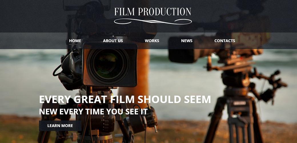 HTML шаблон сайта Film Production