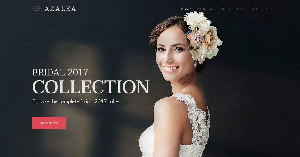 azalea wedding website template
