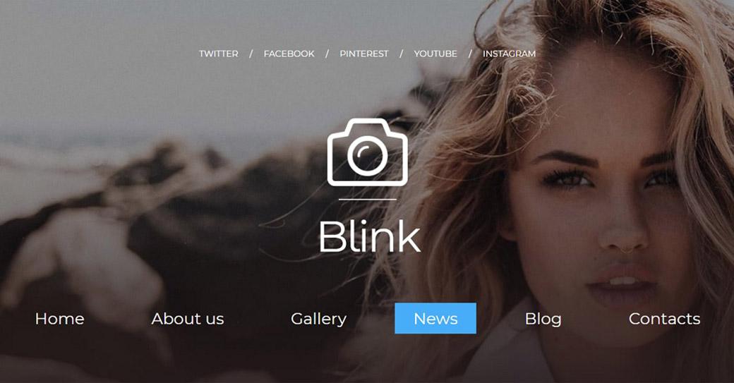 blink photographer website
