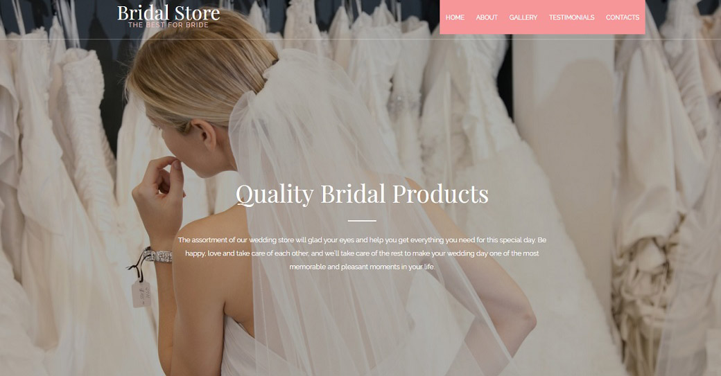 bridal wedding website template