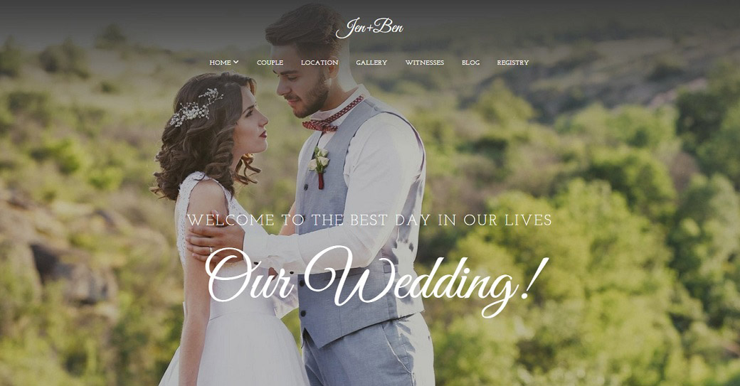 create website for wedding