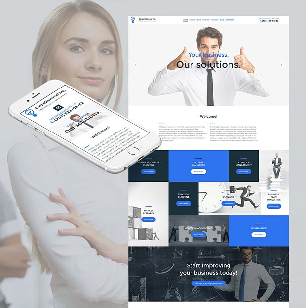 How to make a business website - corporational