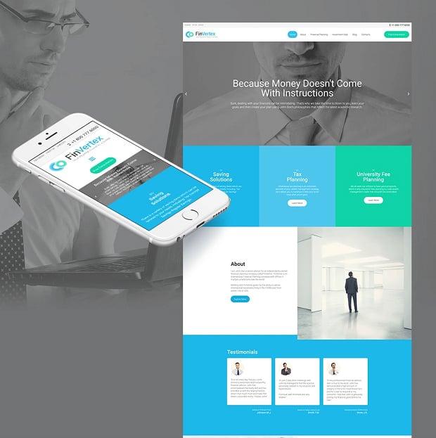 How to make a business website - fin vertex