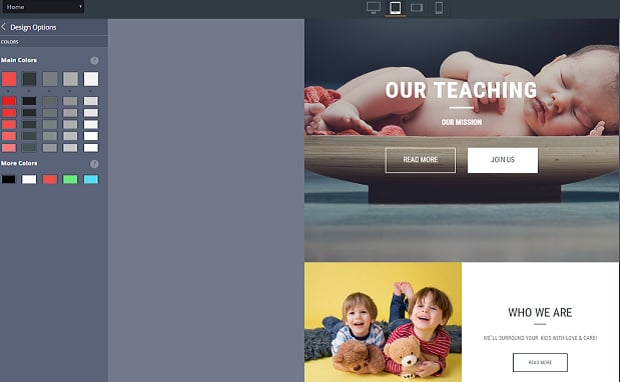 How to make a family website - color picker