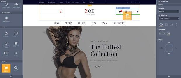 How to make a fashion website - cart