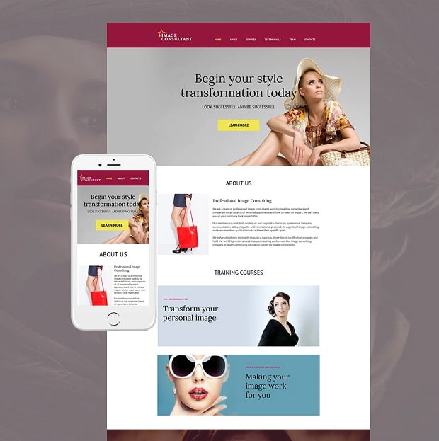 How to make a fashion website - image consultant