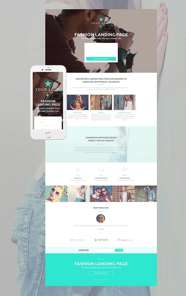 How to make a fashion website - landing page