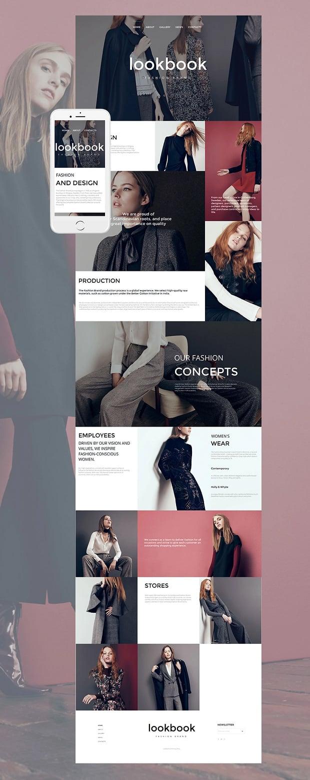 A fashion website - How To Make A Fashion Website Lookbook