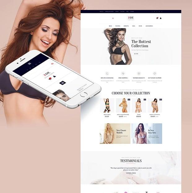 How to make a fashion website - zoe
