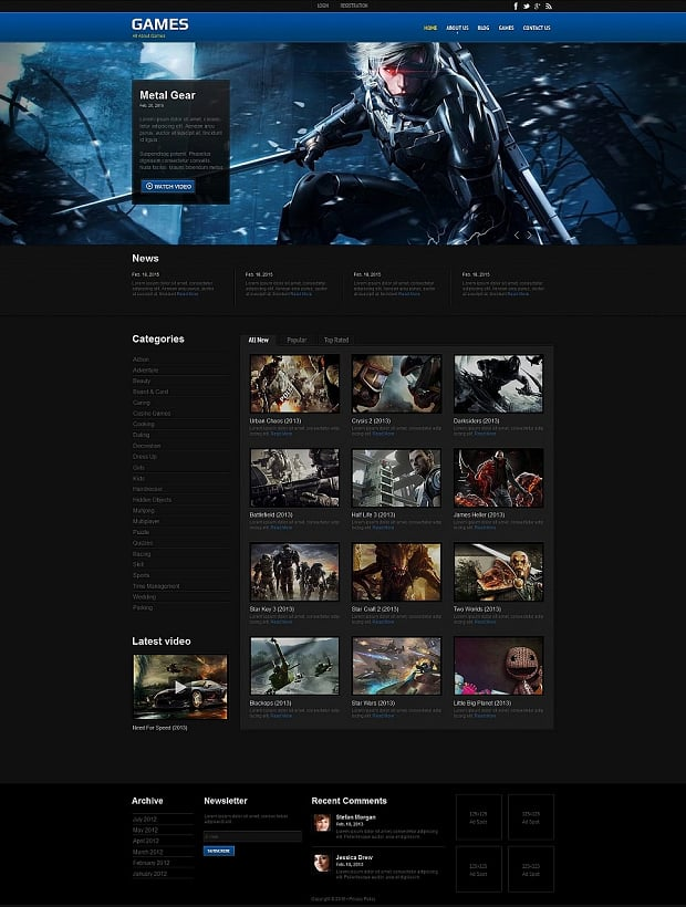How to make a game website - games template
