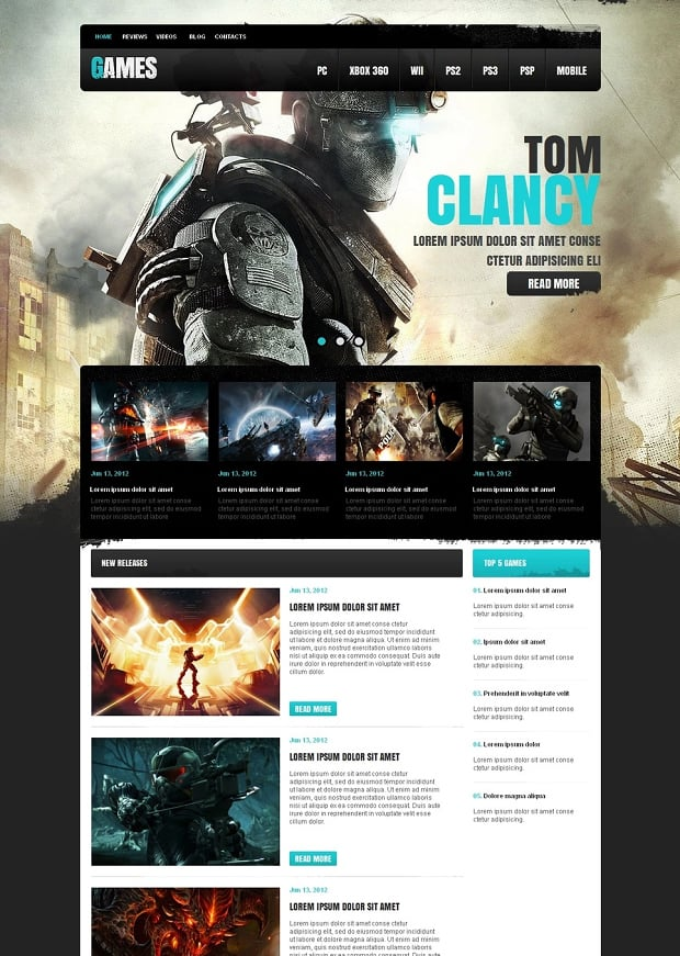 How to make a game website - games website template