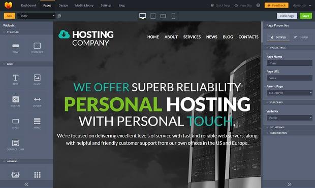 How to make a hosting website - admin panel