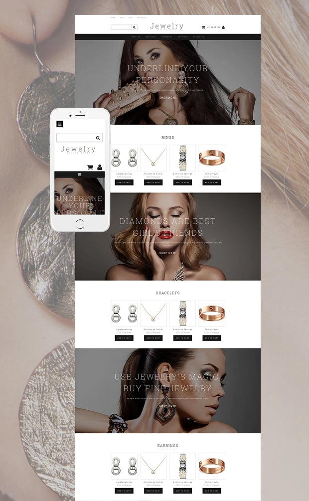 How to make a jewelry website - online shop