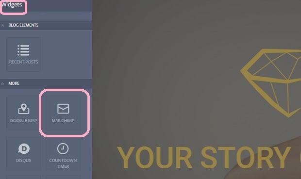 How to make a jewelry website - mailchimp