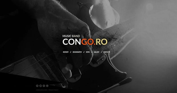 How to make a music website - congoro