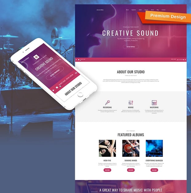 How to make a music website - recordex
