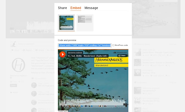 How to make a music website - soundcloud embed