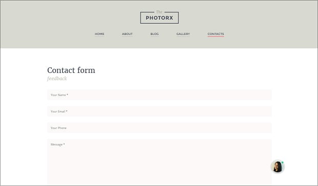 How to make a photography website - contacts