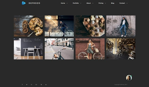 How to make a photography website - defrozo gallery
