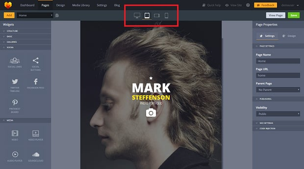 How to make a photography website - preview modes