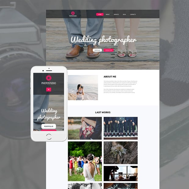 How to make a photography website - photostudio