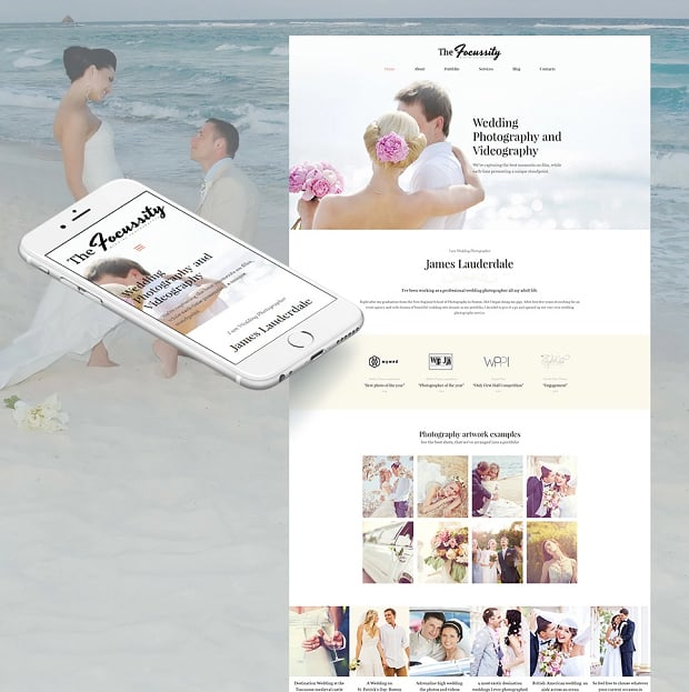 How to make a photography website - wedding photography