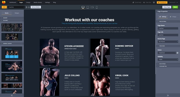 How to make a sports website - coaches