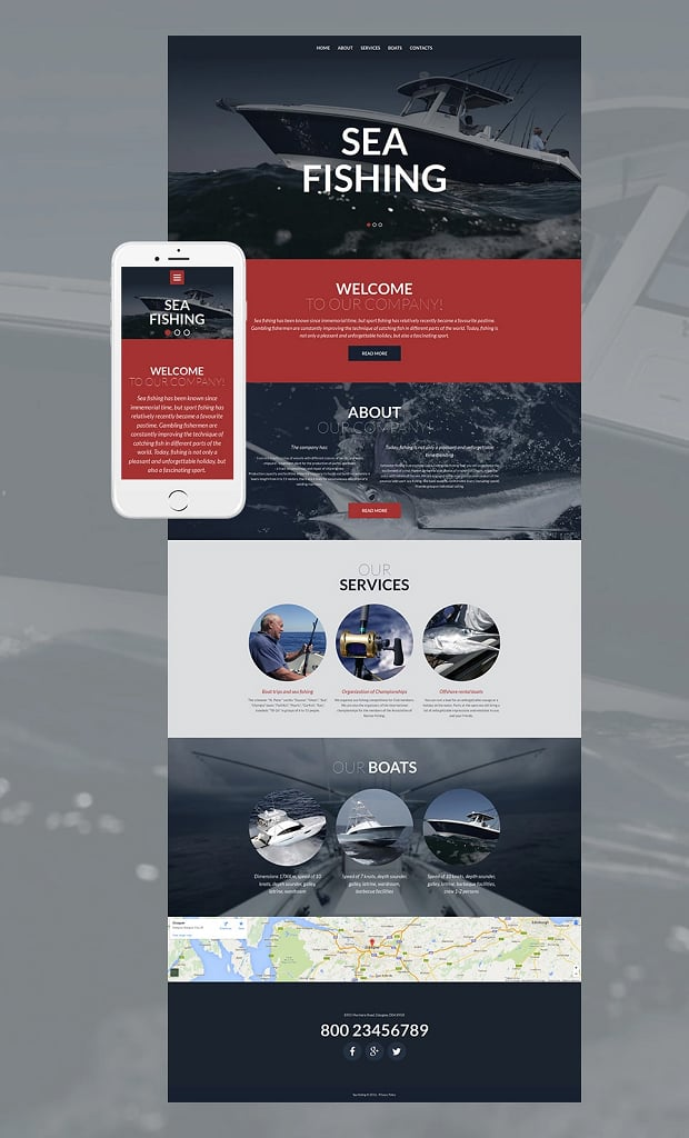 How to make a sports website - sea fishing