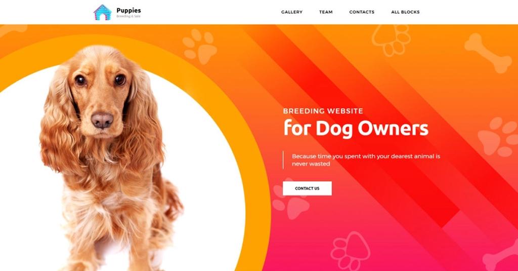 landingapge template hunde website