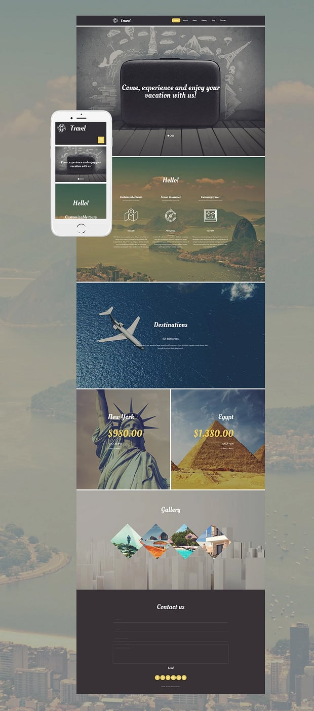 How to make a travel website - template