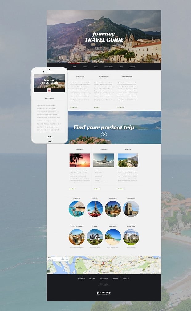 How to make a travel website - journey travel guide