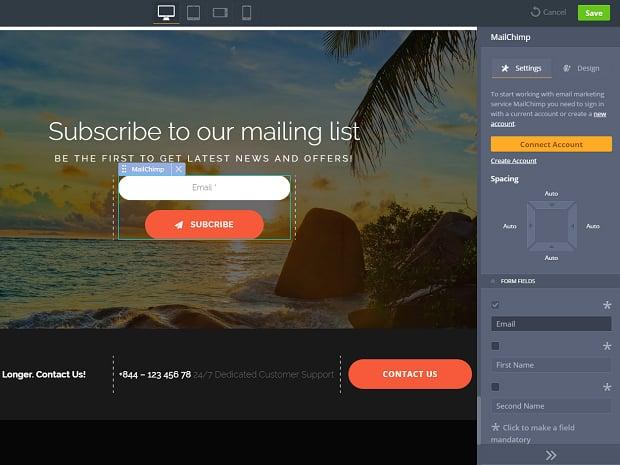 How to make a travel website - mailchimp