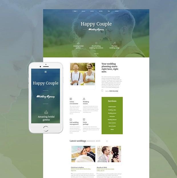 How to make a wedding website - agency