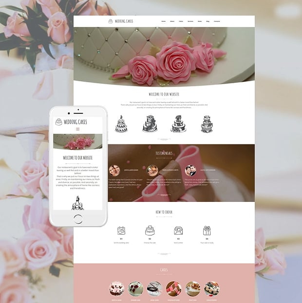How to make a wedding website - cakes