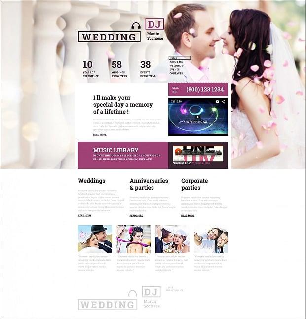 How to make a wedding website - dj