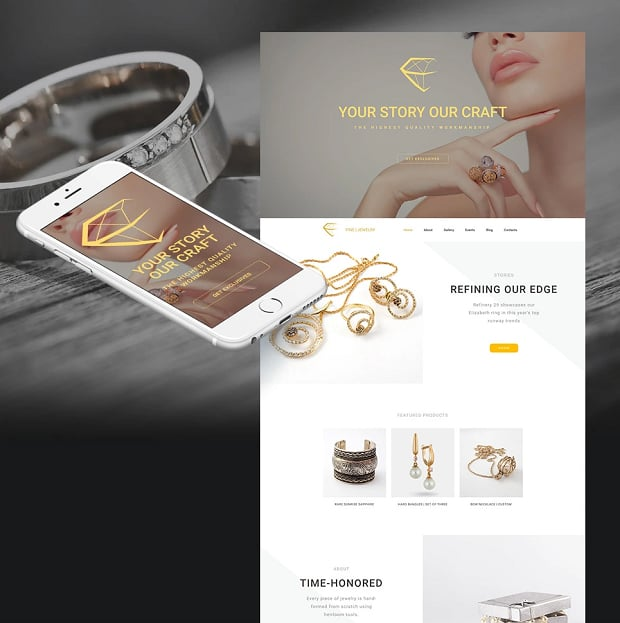 How to make a wedding website - jewerly