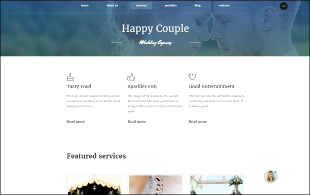 How to make a wedding website - services