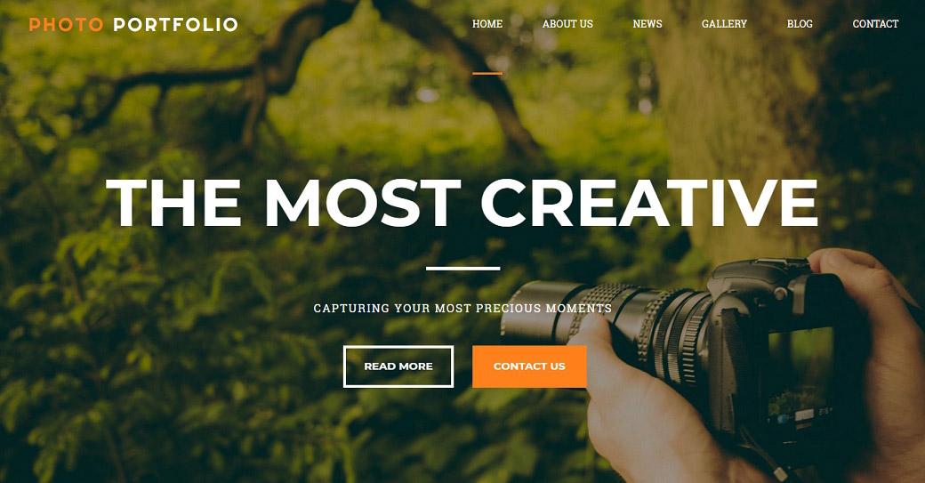 creative photographer website