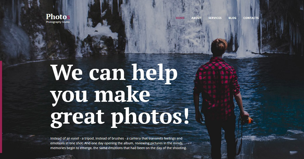passionate photographer template