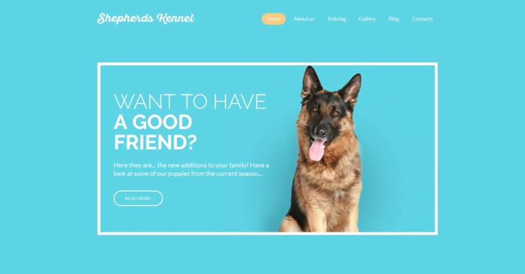 schaeferhund website vorlage