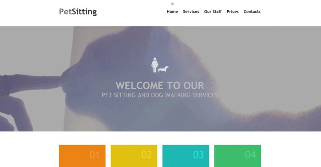 website vorlage hundesitter service