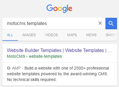 What is Google AMP - website templates