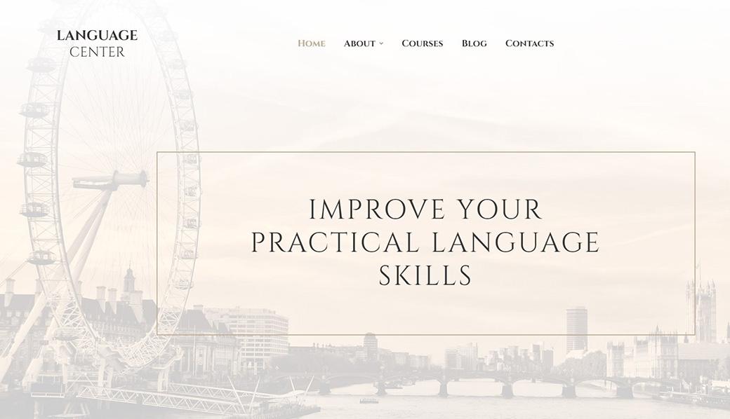 Адаптивный шаблон сайта Language Center