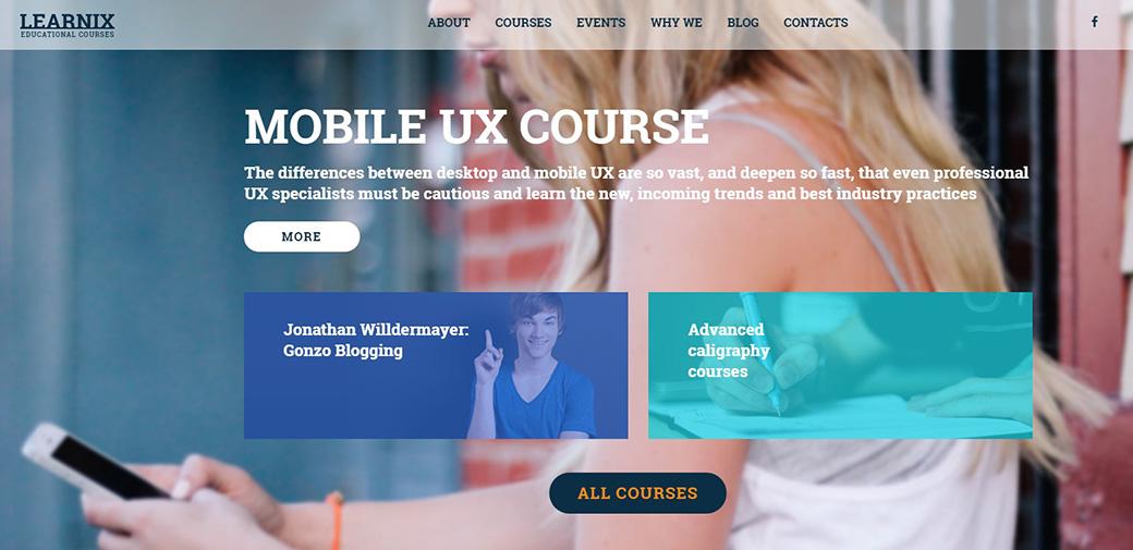 Адаптивный шаблон сайта Learnix Responsive