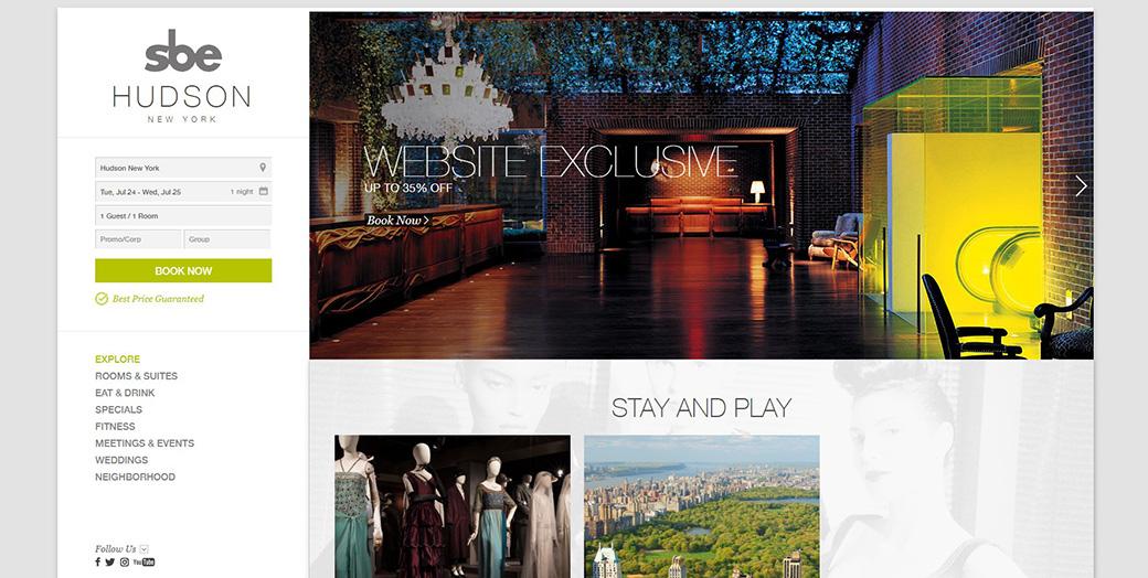 Сайт отеля Hudson New York изображение